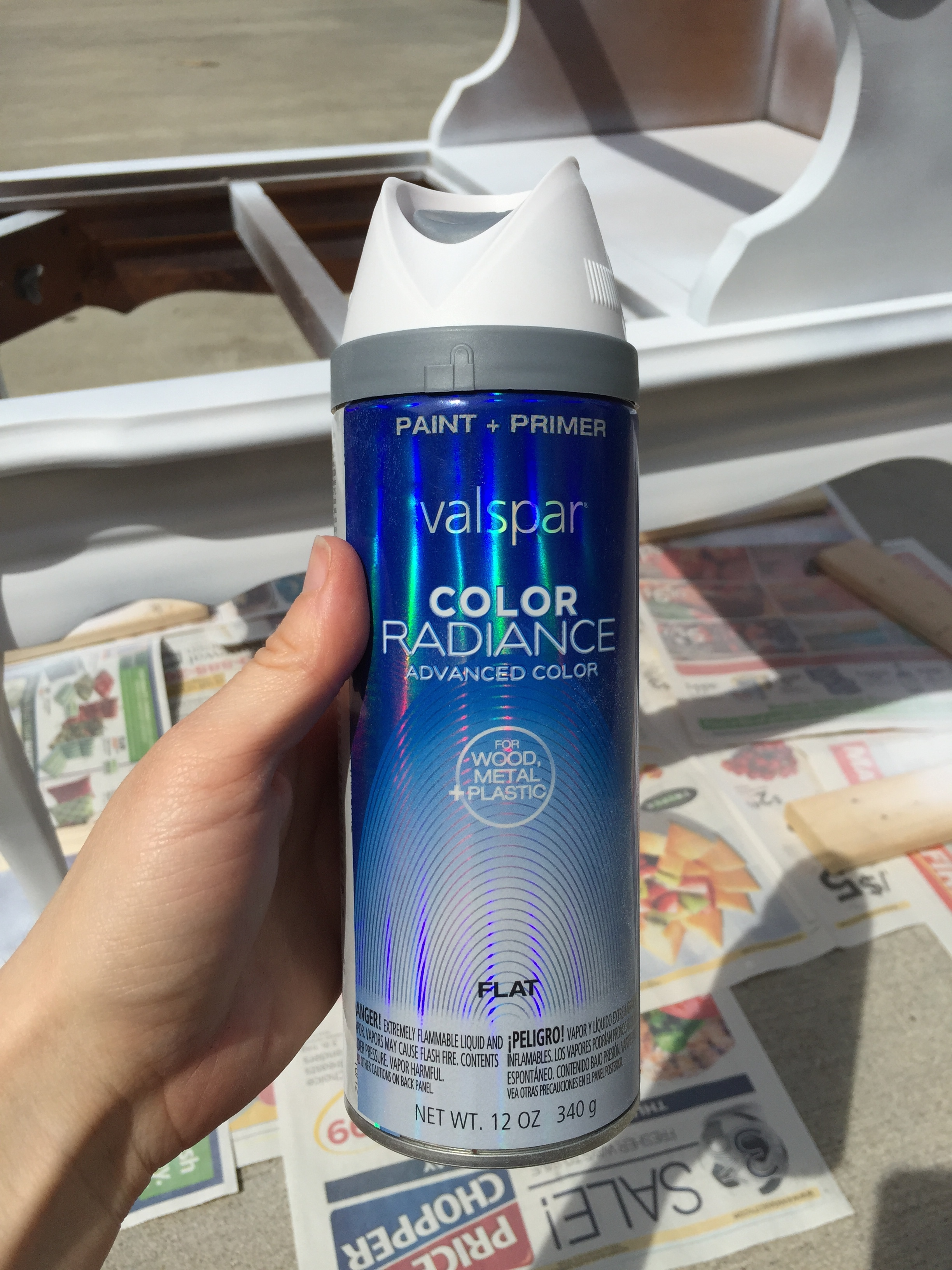Valspar Color Radiance Spray Paint Part - 28: I Headed Out To Loweu0027s This Morning To Grab Some Spray Paint. I Decided To  Go With Valspar Color Radiance U2013 Flat U2013 In White. This Next Photo Is One Of  My ...